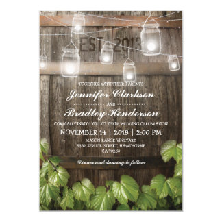 Country Rustic Wedding | Barrel Vine Card