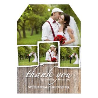 Country Rustic Wood Thank You Wedding Photo Card 13 Cm X 18 Cm Invitation Card
