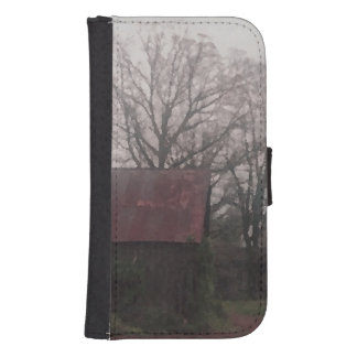 Country Scene Old Barn Farm Wallet Phone Case