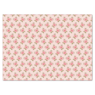 Country Shabby Chic Floral Flowers Tissue Paper