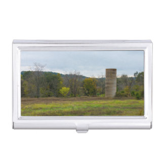Country Silo Landscape Business Card Holder