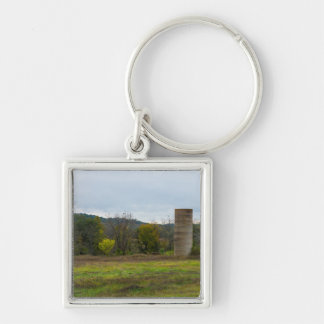 Country Silo Landscape Key Ring