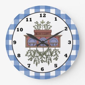 Country Spice cartoon kitchen clock