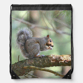 Country Squirrel Drawstring Bag