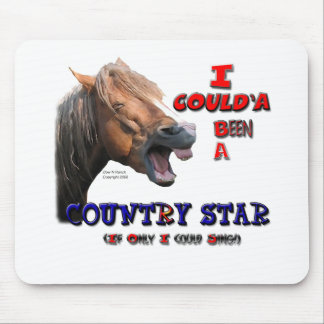 Country Star Funny Horse Mouse Pad