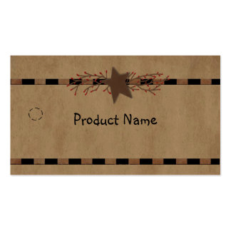 Country Star Hang Tag Pack Of Standard Business Cards