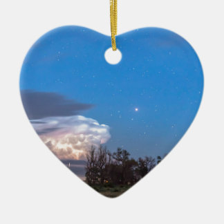 Country Storm Gone By Ceramic Heart Decoration