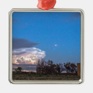 Country Storm Gone By Silver-Colored Square Decoration
