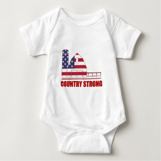 Country Strong USA Baby Bodysuit