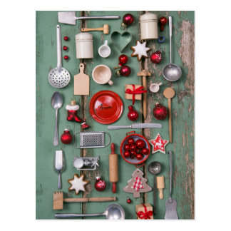 Country Style Christmas Postcard