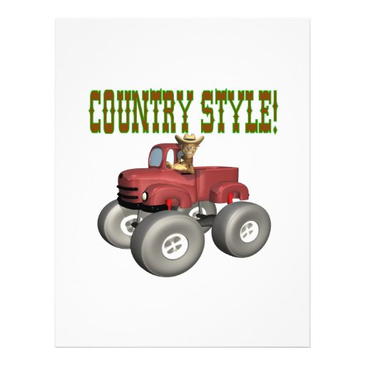 Country Style Personalized Flyer