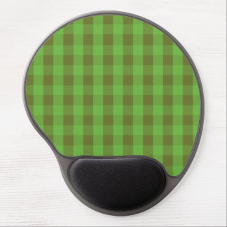 Country-style Green Check Gingham Gel Mousepad