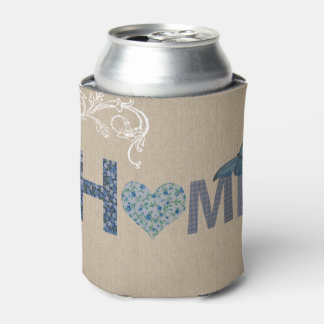 Country Style Home Collage Can Cooler