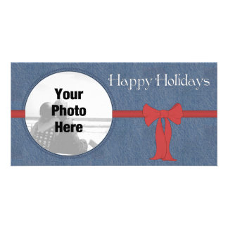 Country Style Photo Christmas card Personalised Photo Card