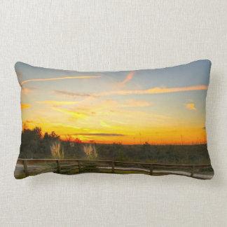 Country Sundown Lumbar Pillow Throw Cushion