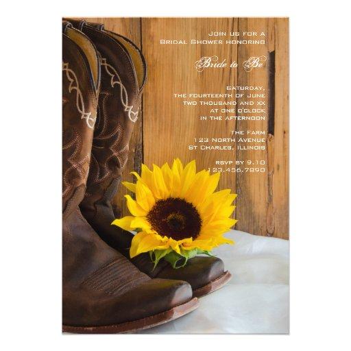Country Sunflower Bridal Shower Invitation - Zazzle.com.au