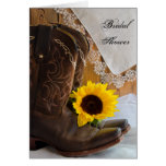 Country Sunflower Bridal Shower Invitation Card