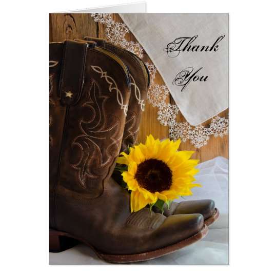 Country Sunflower Bridesmaid Thank You Card