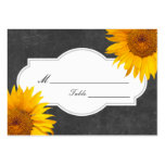 Country Sunflower Chalkboard Wedding Place/Seating Pack Of Chubby Business Cards