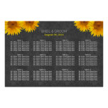 Country Sunflower Chalkboard Wedding Seating Chart Poster