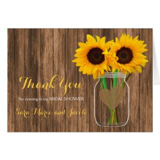Country Sunflower Mason Jar Design Card