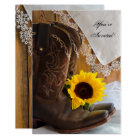 Country Sunflower Quinceanera Party Invitation