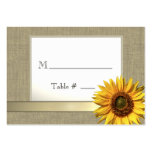 Country Sunflower Seating Cards
