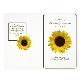 Country Sunflower Wedding Program 21.5 Cm X 28 Cm Flyer