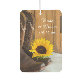 Country Sunflower Western Wedding Favors Car Air Freshener