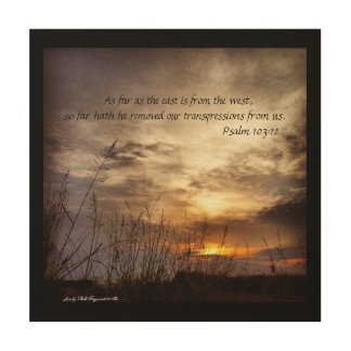 Country Sunrise Nature Art Photo and Bible Verse