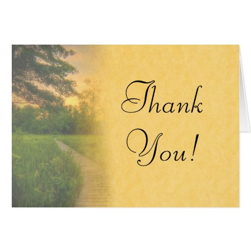 Country Sunset Wedding Thank You Card