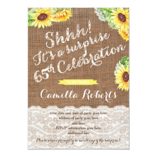Country Surprise 65th Birthday Party for female Card