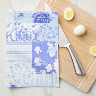 Country Sweet Cornflower Blue Tea Towel