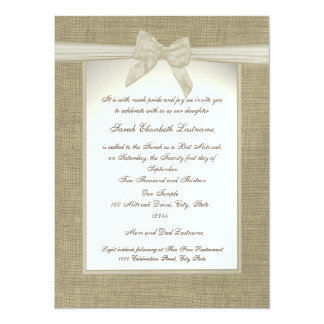 Country Sweetheart Bat Mitzvah 14 Cm X 19 Cm Invitation Card