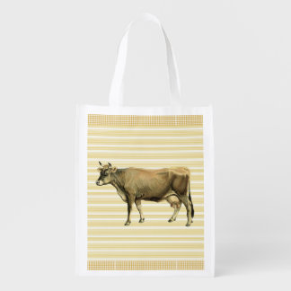 Country Tan Cow Beige Stripe Gingham Check Design