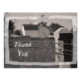 Country Thank You Postcard