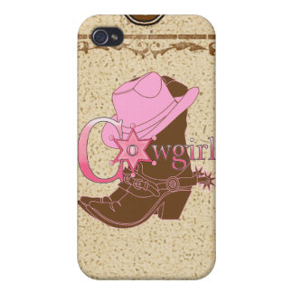 Country Theme Cowgirl Hat Boots Speck Case iPhone4 iPhone 4 Covers