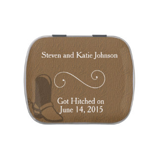 Country Themed Wedding Favors Jelly Belly Tins