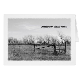 Country Time Out Greeting Card
