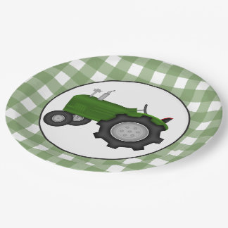 Country tractor party paper plate