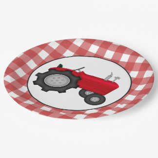 Country Tractor party paper plates 9 Inch Paper Plate