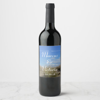 Country Tussock Wedding Wine Label