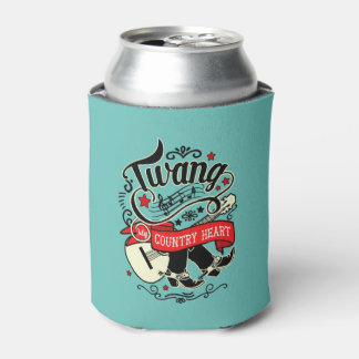Country Twang Red/Black ID464 Can Cooler