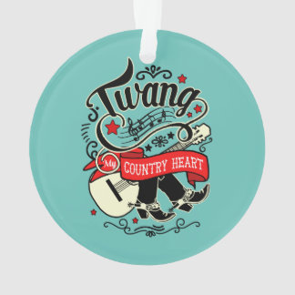 Country Twang Red/Black ID464 Ornament