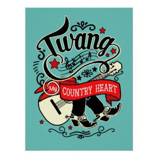Country Twang Red/Black ID464 Poster