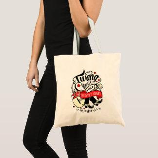 Country Twang Red/Black ID464 Tote Bag