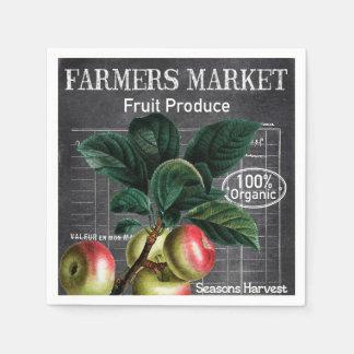 Country Vintage Farmers Market party napkins Disposable Serviette