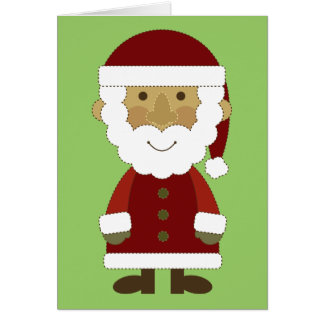 Country Vintage Santa Claus Card