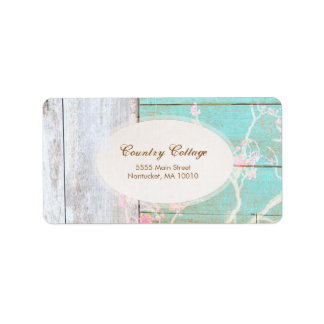 Country Vintage, Shabby, Rustic Wood Chic Boutique Address Label