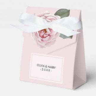 Country Watercolor Rose Wedding Favor Box